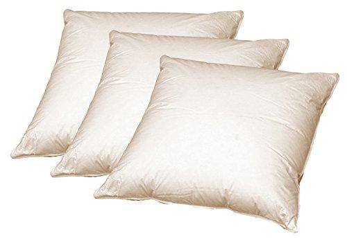 3 x Sofa Federkissen 50x50 cm (echte Federn) robust und formstabil -