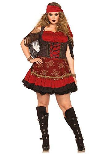 Leg Avenue 85381X - Mystic Vixen Damen kostüm , Größe 3X-4X (EUR 48-50) (Zigeuner Kostüm Kopftuch)