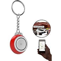 Teepao Key Finder Keychain Bluetooth Wireless Phone Finder Tracker in Pet Locator Device, Telecomando, Anti Perso Allarme di Movimento bidirezionale Find Compatibile iPhone iOS/Android