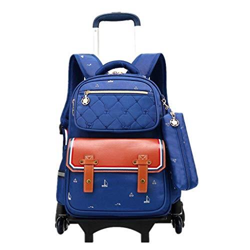 XHHWZB Zaino per bambini Trolley adorabile Zaino per bambini Bowknot Trolley rimovibile per studenti primari Ragazze, rosso rosato (Colore : Royal blue)