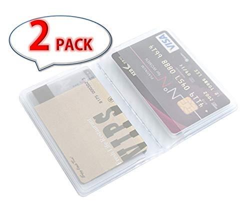 e 20Kunststoff Brieftasche Einsatz für Bifold Business Kreditkarte mit Geschenk (RFID-blockierender Ärmel) ()