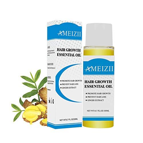 Allbesta Anti-Haarausfall Gingembre Essence Haarwachstums Liquid 20ml Hair Dense Fast Growth Wirksame Lösung für Haarverdünnung & Bruch- für Männer und Frauen