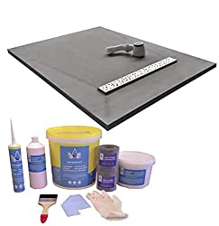 Nassboards Complete Linear Tile Base Tray & Waste System (Y/L) - Waterproof Watertight Design with Drain, Installation Guide, Including Sealing Tape, Grate, XPS Quality Standard Base, Gradient Ready