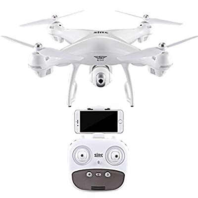 Cooljun WOW! S70W 2.4GHz GPS FPV Intelligent Drone Quadcopter with 1080P HD Camera Wifi Headless Mode (White)