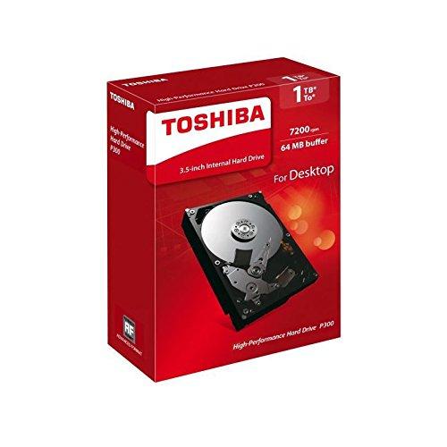 Toshiba P300 1 TB Interne Festplatte (8,9 cm (3,5 Zoll), SATA) schwarz