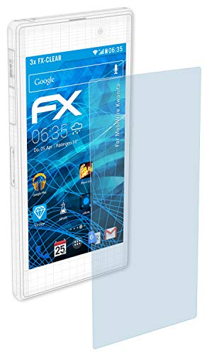 atFolix Schutzfolie kompatibel mit MobiWire Kwanita Folie, ultraklare FX Bildschirmschutzfolie (3X)