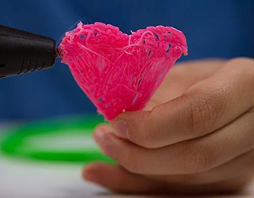 SUNVEZA 3D Stift / 3D Pen | 3D Druckstift Set – Ultimatives Set für Freihand 3D Zeichnungen INKLUSIVE 4x Farben Filament + Schaufel + kostenlose Vorlagen zum Download | mit intelligentem LCD-Display und Temperaturanzeige – Neue Generation! - 3