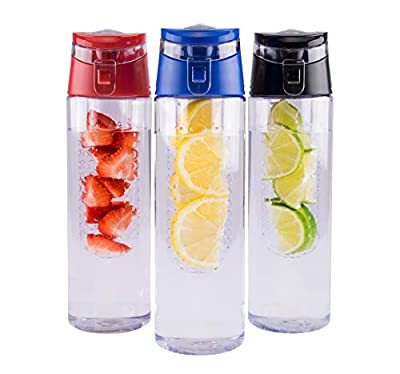 MAGNANI Bouteille Infusion Fruits | Gourde Infusion Fruits | Thermos Infuseur Fruits | Pack de 3 Bouteilles Infusion | 680mL