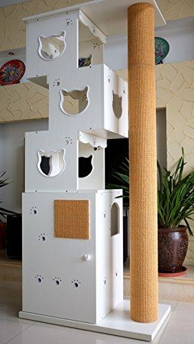 """CatS Design """"2 in 1 Kletterbaum & Katzentoilette """" D-4"""