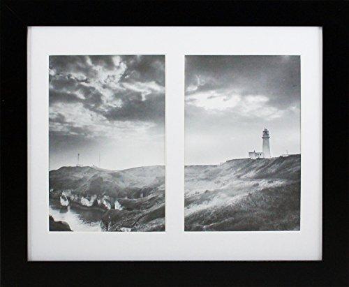8x 10Bilderrahmen Collage-Matte zeigt zwei 10,2x 15,2cm Fotos-Schwarz Galerie breit Formen-inkl. befestigt Aufhängen Hardware und Desktop Staffelei-4x 6Bilder angezeigt oder 8x 10 (Frame Multi-pic)