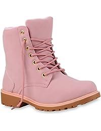 Worker Boots Damen Profil Sohle Outdoor Stiefeletten Zipper