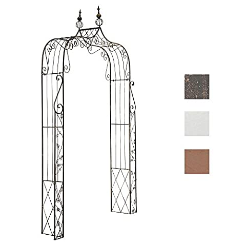 CLP Antique Rose Arch AURORA, made from stable coated metal, 2 different ways to assemble, very sturdy bronze