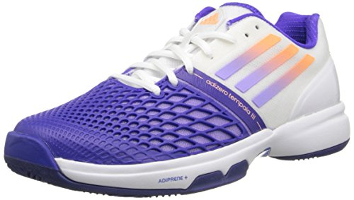 Adidas Cc Adizero Tempaia Iii Wei� / Licht Flash-Rot / Licht Flash-Grün Sneaker 5 B - Medium White/Light Flash Purple/Night Flash