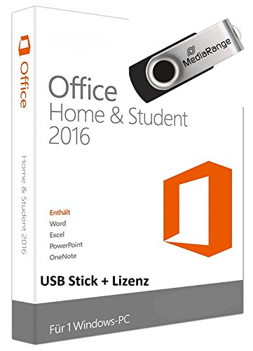 Preisvergleich Produktbild Microsoft Office 2016 Home & Student mit USB Stick zur Installation inkl. Kundensupport der Fa. Krolltech