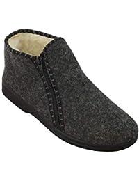 0f4050c5f4d Bawal Calzado de Invierno - de Lana - Fieltro - con Cremallera - Zapatillas  de casa