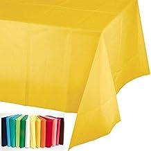 Takestop® Juego de 5piezas Mantel Mantel de mesa multicolor PVC 137x 275cm addobbi Día Cenas USA desechables Party color aleatorio