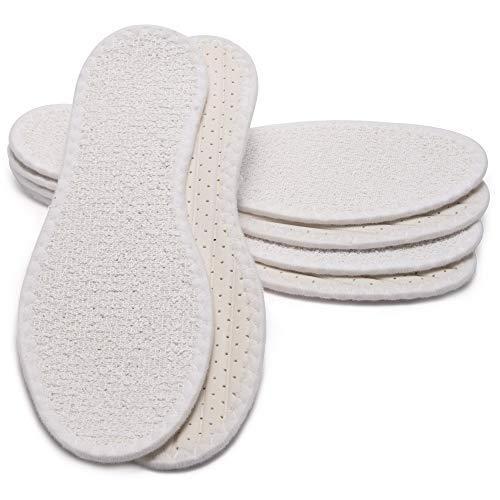 MAROL Barfußsohle aus 100% Baumwolle Frottee mit Latexdämpfun, Antibakteriell, Aktivkohle, Atmungsaktiv/Größe 36-47 (39), 3er