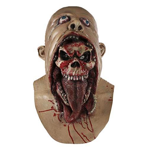 tobbrt Harz Maske Halloween Latex Masken mit Deluxe Qualität schrecklichen Horror Halloween Rülpsen Charlie Stil Halloween Kostüm Teufel Männer (45 * 35cm)