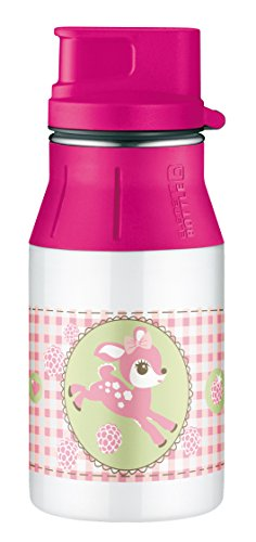 Alfi 5377146040 Trinkflasche Element Edelstahl, (0,4 Liter) little doe weiß Doe Tee
