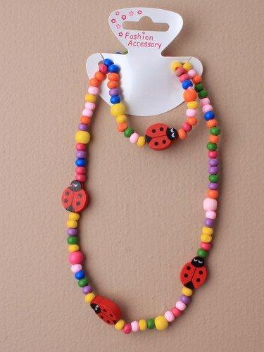 KINDER Marienkäfer Perlen Halskette und Armband Set - PARTY Wundertüten Inhalt, strumpf füllstoffe, geschenke für klein mädchen