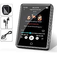 """32G Reproductor MP3 Bluetooth 5.0 JBHOO 2.8"""" MP3 Running con Altavoz, FM Radio, Podómetro, Grabación, Soporte de Pantalla Táctil Completa de hasta 128 GB (Cordón, Brazalete Deportivo Incluido)"""