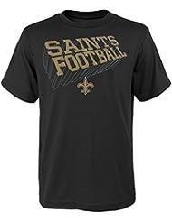 "New Orleans Saints Youth Jeunes NFL ""Dimensional"" Short Sleeve T-Shirt Chemise"