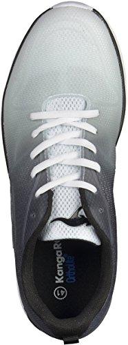 KangaROOS K- Light 8003, Sneakers basses mixte adulte Noir/Blanc
