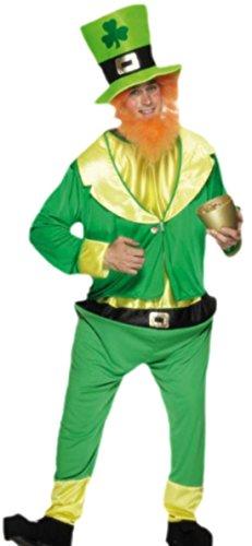erdbeerloft - Herren Leprechaun Kobold Kostüm, onesize, Grün