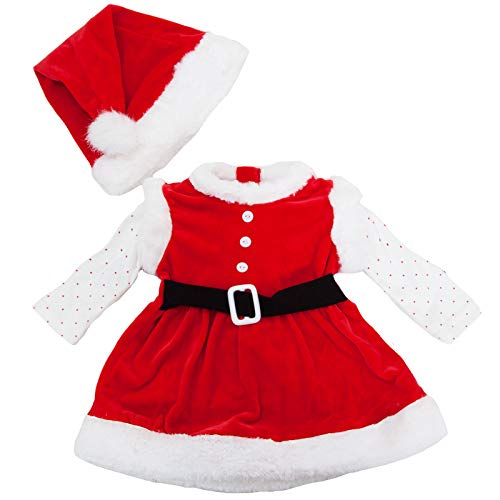 Toocool - Completo Bambina neonata tutina vestitino Babbo Natale cappellino nuovo FK826 [3/6,DJ-865]
