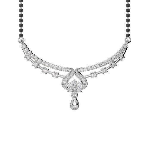 Or blanc/or jaune/Platinum-Collier Femme-diamant mangalsutra dtn-34-vsgh