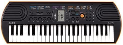 Casio Portable Electronic KeyBoard SA-76A with Free Adaptor worth INR 300