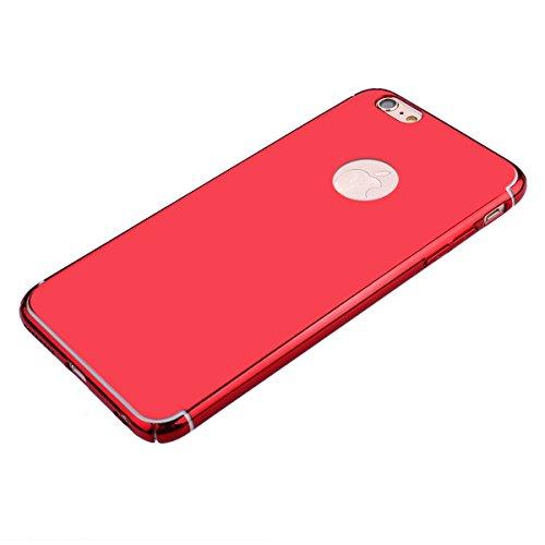 JAWSEU iPhone 6 Plus 5.5 Zoll/6S Plus 5.5 Zoll Diamant Tpu Hülle,Luxus Rose Gold Strass Rahmen Glitzer Weiche Silikon Soft Gel Ultra Dünne Perfekter Schutz Helle Glänzende Strass Tpu Schale Zurück Sch Mirror,Rot