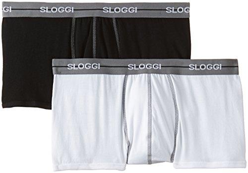 Sloggi Herren, Boxershorts, SLOGGI MEN START Hipster, 2er Pack, Mehrfarbig (Black/White)