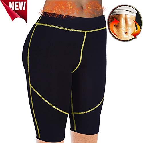 AFUT Damen Sweat Sauna Neoprene Hot Capri Pants Body Shapers Schwitzhose Slimming Gym Leggings Anti-Cellulite Shorts Thermo Fitness Weight Loss Yoga Sports Körperformung Hosen