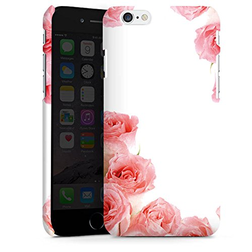 Apple iPhone X Silikon Hülle Case Schutzhülle Rosen Blüten Pink Premium Case matt