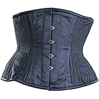 Killer Corsets Women's Corset in Cotton Black & White with Waist Cincher