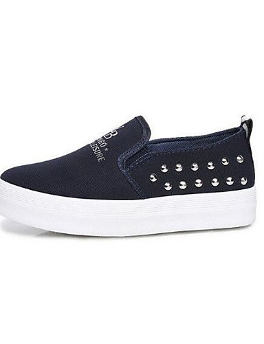 ZQ gyht Scarpe Donna-Mocassini-Tempo libero / Casual-Comoda / Punta arrotondata-Plateau-Di corda-Nero / Blu / Rosso , red-us8.5 / eu39 / uk6.5 / cn40 , red-us8.5 / eu39 / uk6.5 / cn40 red-us8.5 / eu39 / uk6.5 / cn40