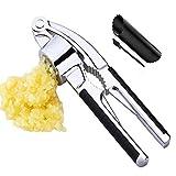 Aimenss Knoblauchpresse Knoblauchschneider Garlic Press praktischer Küchenhelfer, 2 in 1 Professional Knoblauch Fleischwolf und Nussknacker