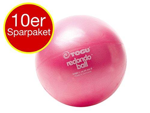 10 x Togu Redondo Ball Pilates Ball Gymanstik Yoga Fitness Therapie 26cm rot