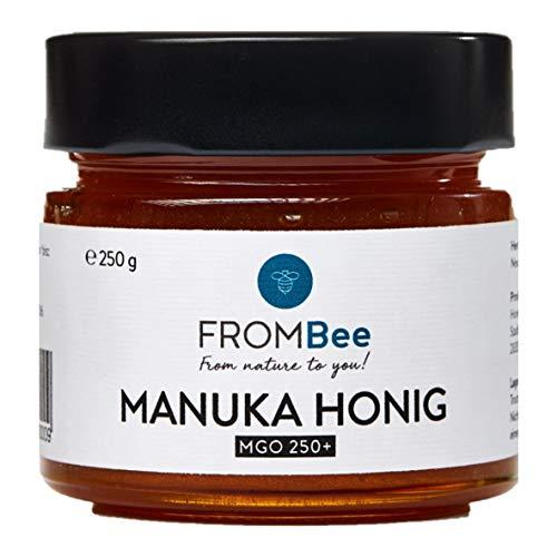 Frombee - Manuka Honig MGO 250+ aus Neuseeland - (1 x 250g) im Glas, 100% natürlich und rein, fein-cremig
