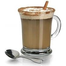 Anchor Hocking 83037juego de 6tazas de cristal Mocha–grandes tazas de café de mecánico taza de té de cristal