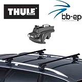 Thule Premium Dachträger / Lastenträger für Mercedes Benz C-Klasse (W204) 5 Türer Kombi Baujahr 2007 bis heute mit normaler Dachreling – Komplettsystem