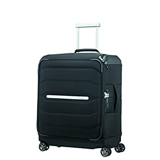 SAMSONITE Flux Soft – Spinner 56/20 w/ Top Pocket Equipaje de mano, 56 cm, 57.5 liters, Negro (Black)