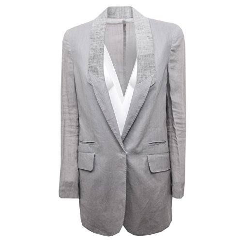 B6270 giacca donna BRUNELLO CUCINELLI grigio jacket woman [42]