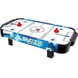 Small Foot 9878 Air-Hockey table en bois et plastique, avec un puk et deux massues, à partir de 3 ans