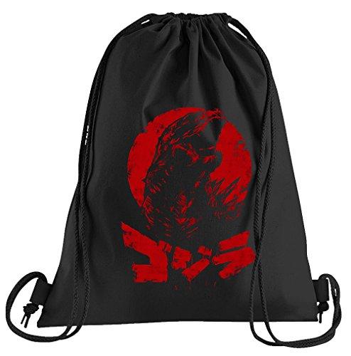 T-Shirt People Japan Godzilla Sportbeutel - bedruckter Beutel - eine schöne Sport-Tasche Beutel mit Kordeln
