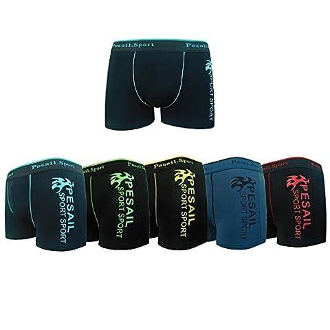 Pesail Boxers Garçons Enfants Slips Sous-vêtement Short en Coton Taille 8 - 14 ans Pack de 2-4-5-6(10-12 ans,Pack de 6)
