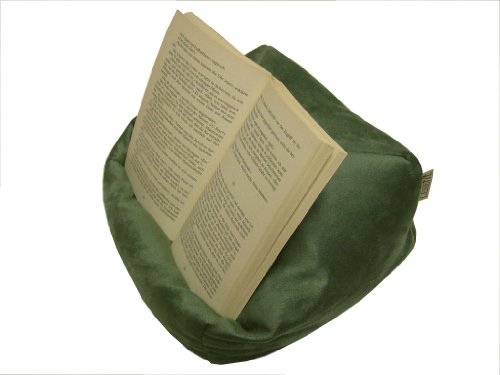 Preisvergleich Produktbild LESEfit soft antirutsch Lesekissen, Tablet Kissen, echter Sitzsack für iPad * Bücher & eBook-Reader, elastan-frei für Bett & Couch / grün