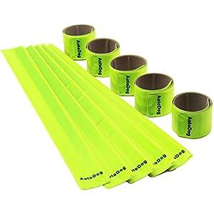 AutoDog 10st Schnapparmband Reflektorbänder Klatscharmband Reflektierend Sicherheitsband Kinder