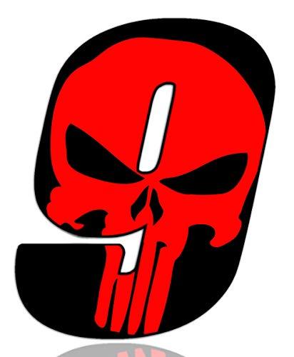 Número 9 Punisher Calavera Vinilo Adhesivo Pegatina Coche Auto...